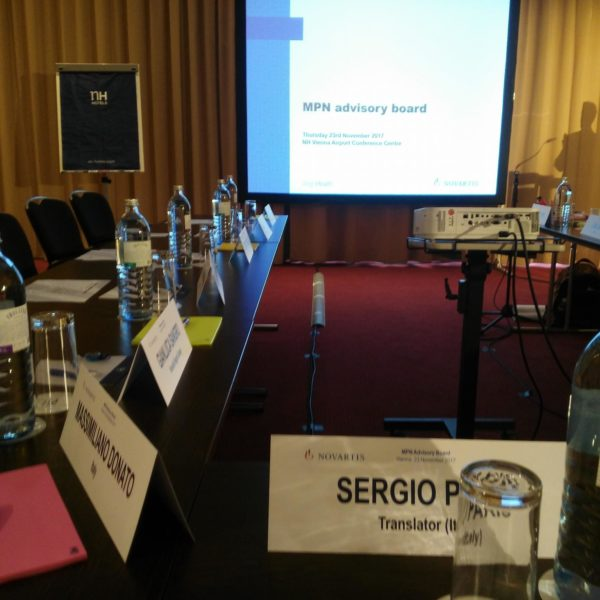 English into Italian conference interpreter sergio paris